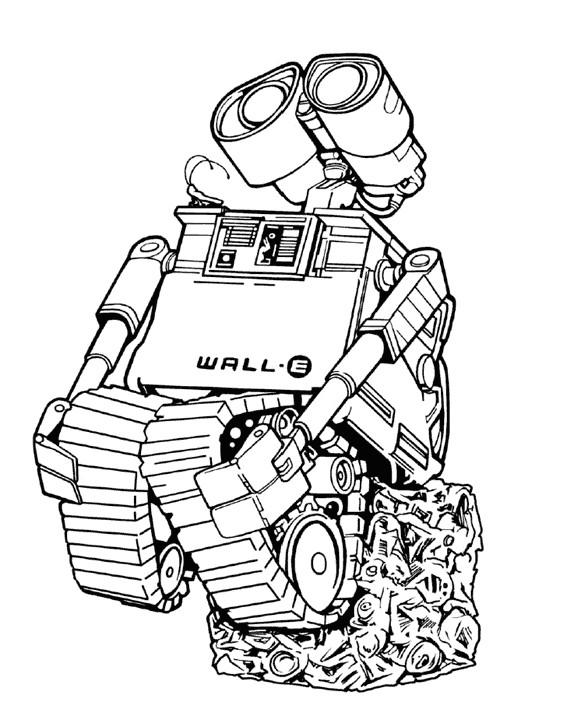 Coloriage et dessins gratuits Dessin Wall-E à imprimer