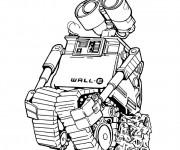 Coloriage Dessin Wall-E robot
