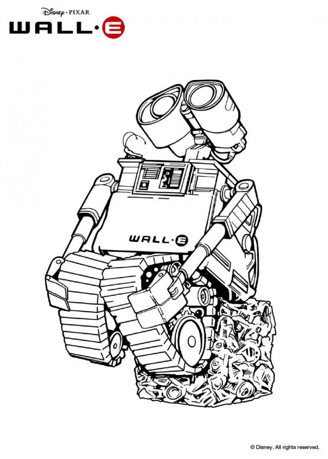 Coloriage et dessins gratuits Dessin Wall-E robot à imprimer