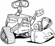 Coloriage Disney Pixar Wall-E robot