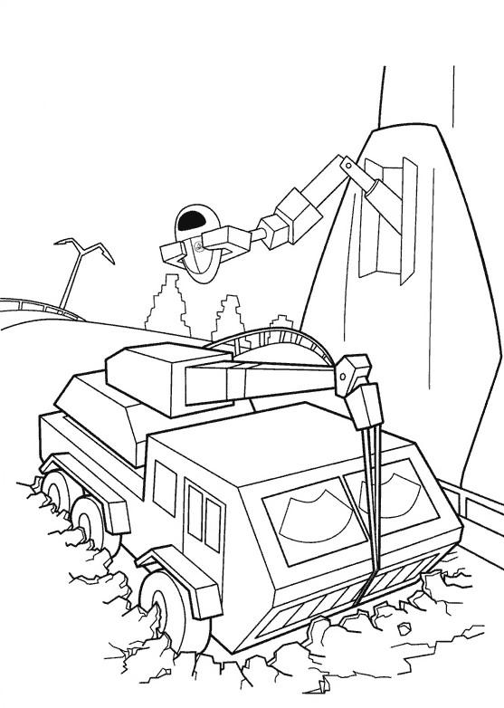 Coloriage et dessins gratuits Le robot MVR-A et camion à imprimer