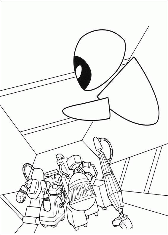 Coloriage et dessins gratuits Les amis de Wall-E à imprimer