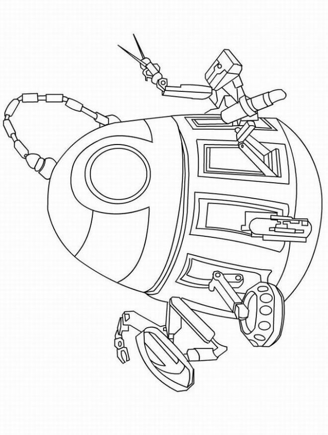 Coloriage et dessins gratuits PR-T Wall-E dessin à imprimer