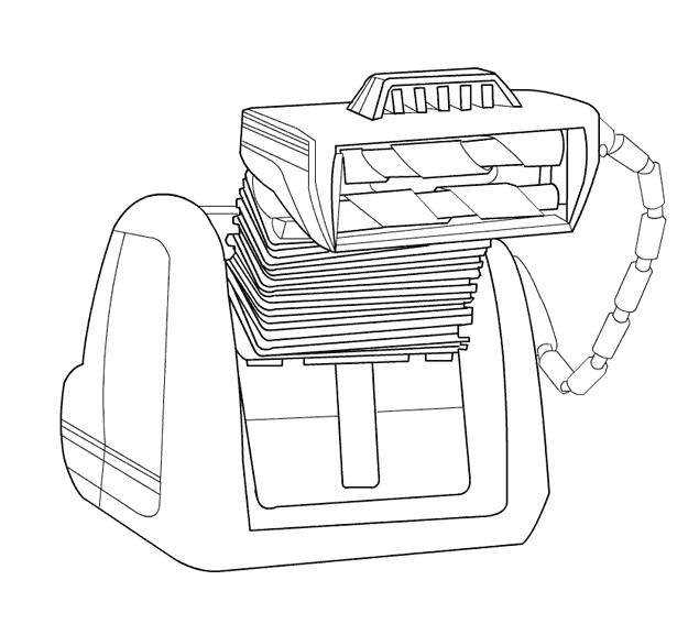 Coloriage et dessins gratuits VAQ-M personnage de Wall-E à imprimer