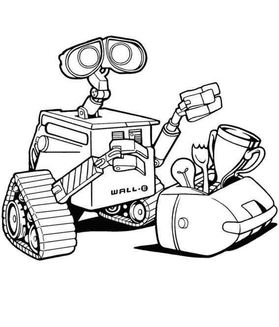 Coloriage et dessins gratuits Wall-E dessin à imprimer