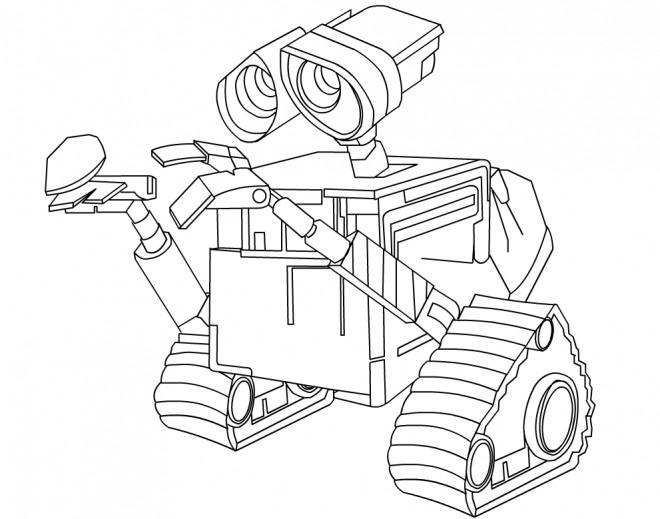 Coloriage et dessins gratuits Wall-E dessin disney à imprimer