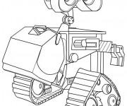Coloriage et dessins gratuit Wall-E dessin robot à imprimer