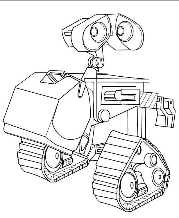 Coloriage et dessins gratuits Wall-E dessin robot à imprimer