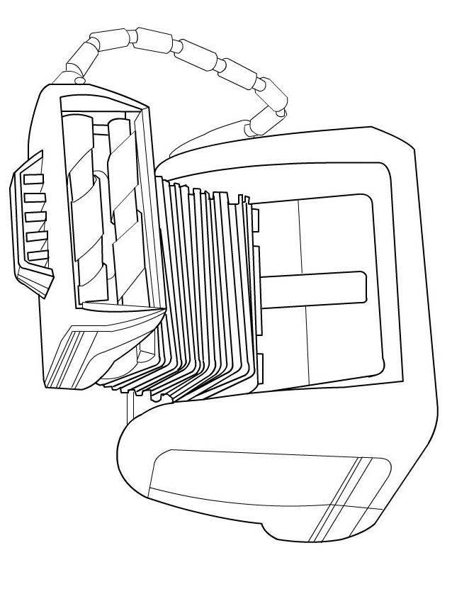 Coloriage et dessins gratuits Wall-E drôle de machine à imprimer