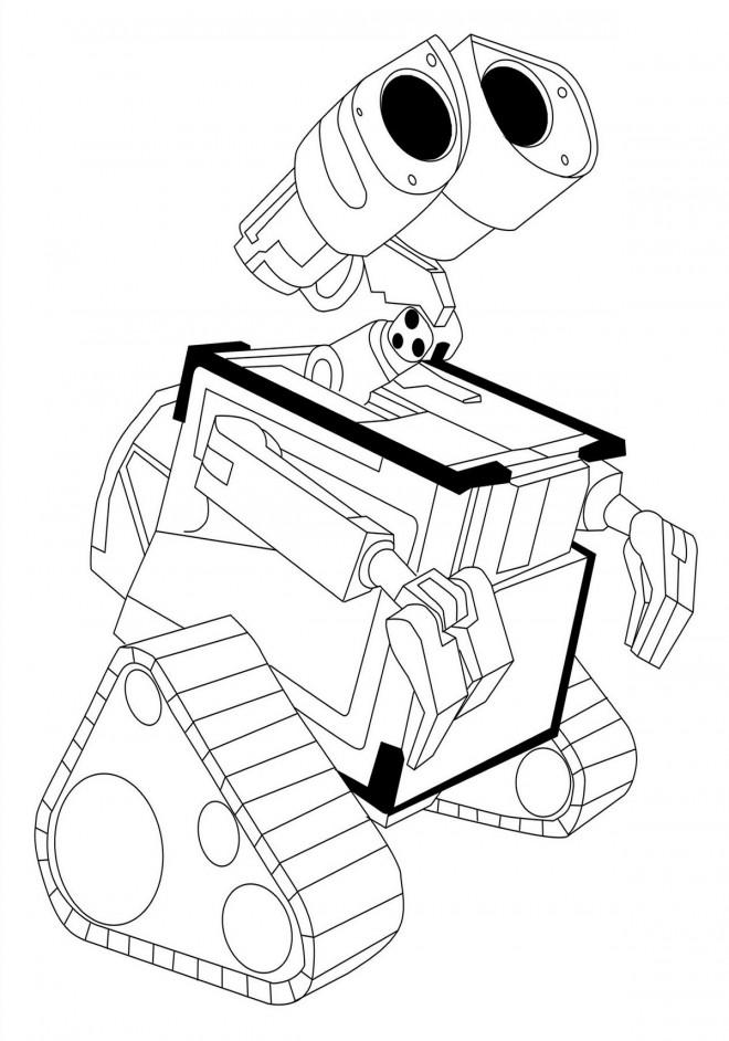 Coloriage et dessins gratuits Wall-E ending scene à imprimer