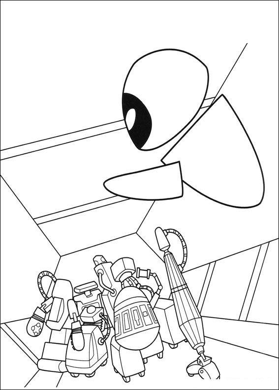 Coloriage et dessins gratuits Wall-E Eve dessin animé à imprimer