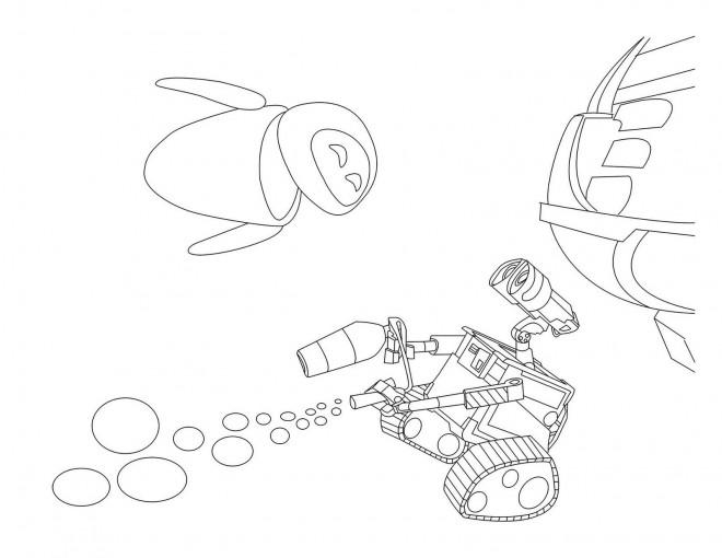 Coloriage et dessins gratuits Wall-E Eve film à imprimer