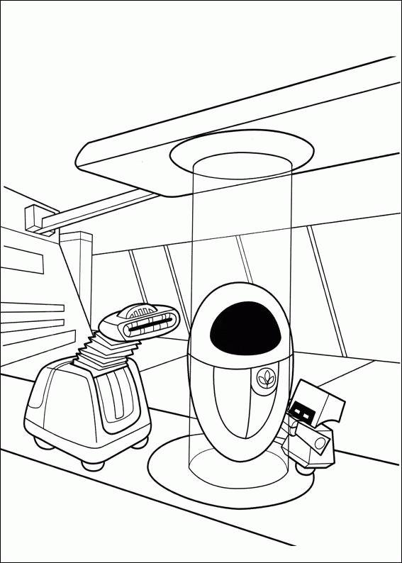 Coloriage et dessins gratuits Wall-E film à imprimer