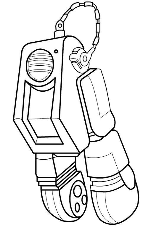 Coloriage et dessins gratuits Wall-E Han-S personnage en ligne à imprimer