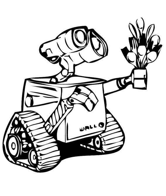 Coloriage et dessins gratuits Wall-E le robot film à imprimer