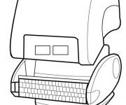 Coloriage et dessins gratuit Wall-E ligne à imprimer