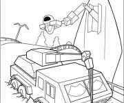 Coloriage Wall-E personnages MVR-A