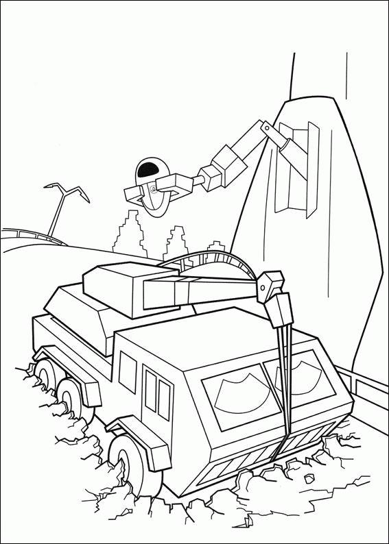 Coloriage et dessins gratuits Wall-E personnages MVR-A à imprimer