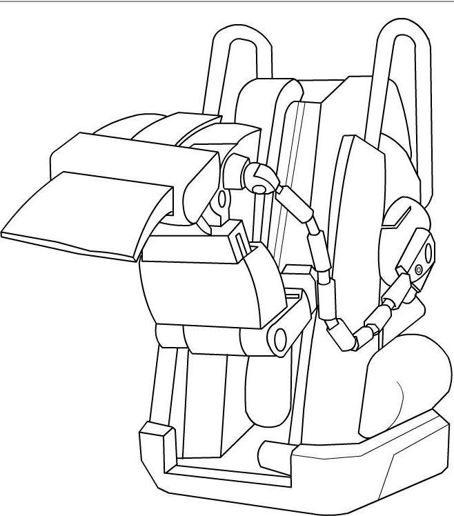 Coloriage et dessins gratuits Wall-E POW-R en couleur à imprimer