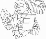 Coloriage et dessins gratuit Wall-E robot dessin à imprimer