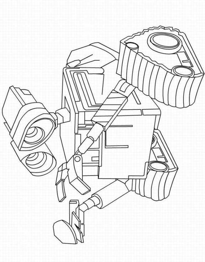 Coloriage et dessins gratuits Wall-E robot dessin à imprimer