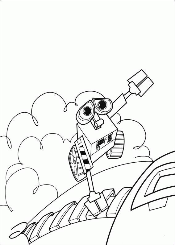 Coloriage et dessins gratuits Wall-E robot monte à imprimer