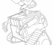 Coloriage Wall-E simple en ligne