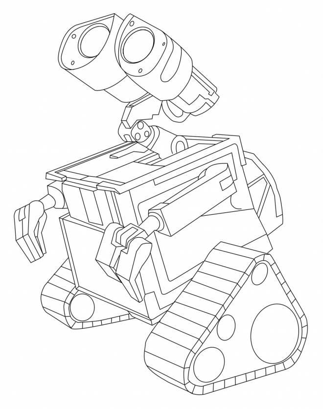 Coloriage et dessins gratuits Wall-E simple en ligne à imprimer
