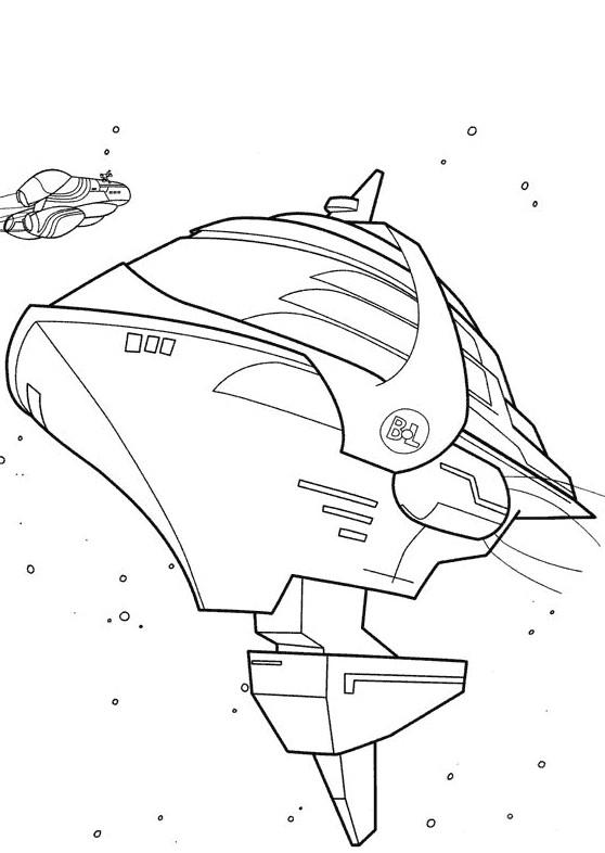 Coloriage wall e vaisseau spatiale dessin gratuit imprimer - Dessin vaisseau spatial ...