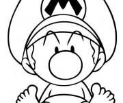 Coloriage et dessins gratuit Bébé Mario à imprimer