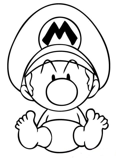 Coloriage et dessins gratuits Bébé Mario à imprimer