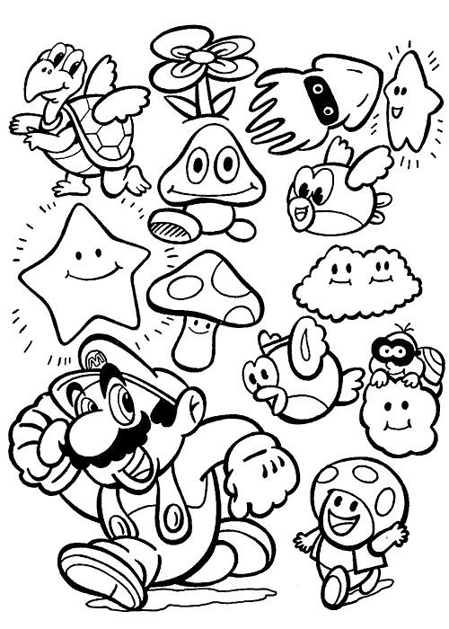 Coloriage et dessins gratuits Magique Mario à imprimer