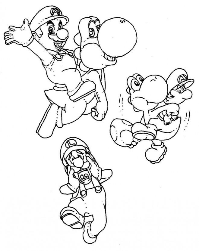 Coloriage Mario Luigi Wario Et Yoshi Dessin Gratuit 224 Imprimer