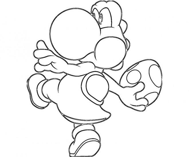 Coloriage et dessins gratuits Oeuf de Yoshi en couleur à imprimer