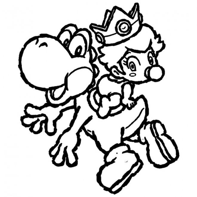 Coloriage et dessins gratuits Yoshi et bébé à imprimer
