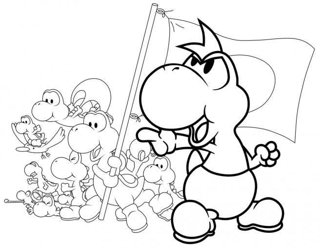 Coloriage et dessins gratuits Yoshi et ses amis à imprimer
