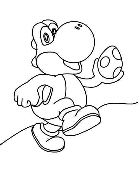 Coloriage Yoshi oeuf dessin gratuit