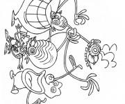 Coloriage Dessin animé Zinzin de l'espace