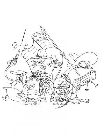 Coloriage et dessins gratuits Les Zinzin Cowboys à imprimer