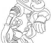 Coloriage Un singe astronaut