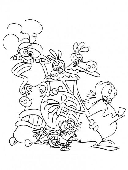 Coloriage zinzin de l 39 espace dr le dessin gratuit imprimer - Coloriage tfou ...