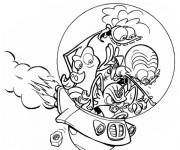 Coloriage et dessins gratuit Zinzin  viennent de l'espace à imprimer