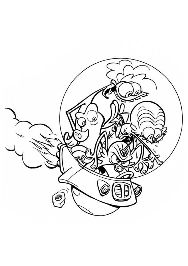 Coloriage et dessins gratuits Zinzin  viennent de l'espace à imprimer