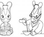 Coloriage et dessins gratuit Les Zouzous  à la cuisine à imprimer