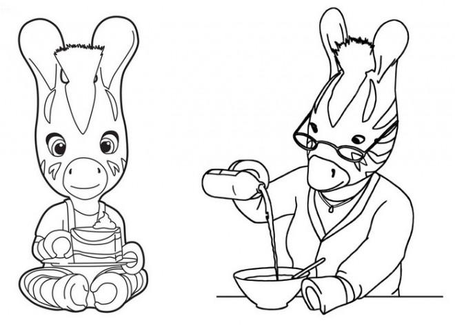 Coloriage et dessins gratuits Les Zouzous  à la cuisine à imprimer