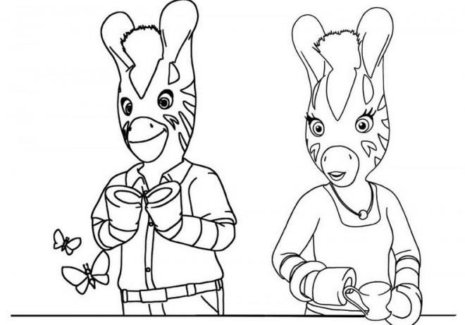 Coloriage les zouzous dessin anim dessin gratuit imprimer - Coloriage zebre a imprimer ...