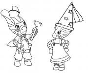 Coloriage et dessins gratuit Zèbre a dessiner à imprimer