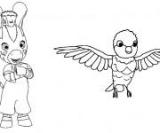 Coloriage Zou et l'oiseau