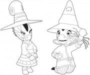 Coloriage Zou la petite sorcière