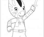 Coloriage et dessins gratuit Zouzou zèbre gratuit à imprimer à imprimer